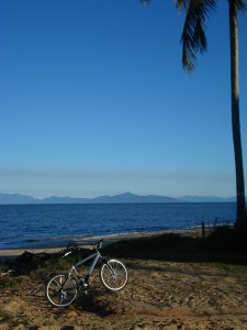 Bike and island view