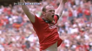 Wayne Rooney, trained chimp