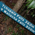 Tchupala & Wallacha Falls sign