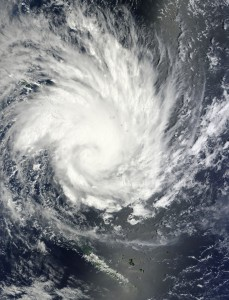 NASA Satellite image of Tropical Cyclone Yasi