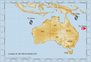 Australian Cyclone Map