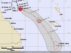 Cyclone Zelia Track Map