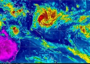 NOAA MTSAT Infrared Colourised Image Loop