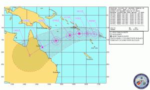 Tropical Cyclone Yasi Track Map