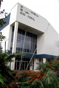 Tully Council Offices after Cyclone Yasi