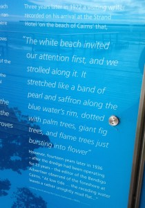 Tourist info board at Cairns