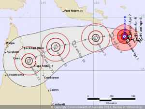Tropical Cyclone Ita track map