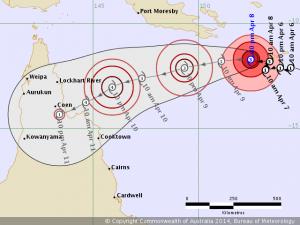 Tropical Cyclone Ita track map